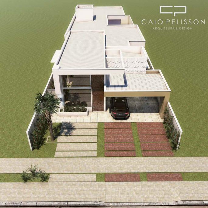 planta construir casa terrea 10x30 fachada moderna reta caixote