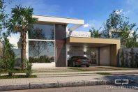 planta construir casa terrea 10×30 fachada moderna reta caixote