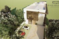 projeto arquitetura corporativa empresa tecnologia fachada moderna