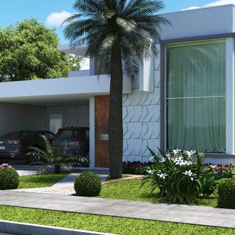 Projetos de arquitetura residencial campinas plantas de for Casa minimalista 80 metros