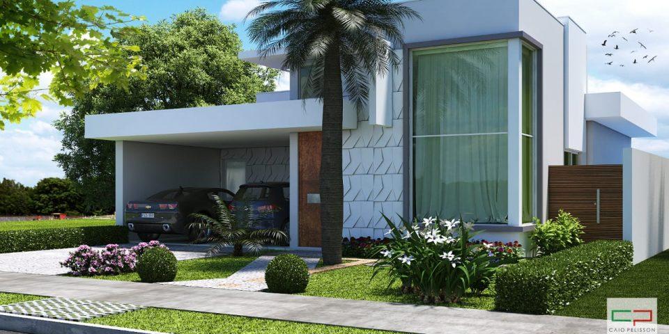 144 casa moderna 80 mts fachadas por construtora lima
