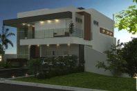 projeto sobrado alphaville tambore 11 terreno desnivel declive fachada contemporanea