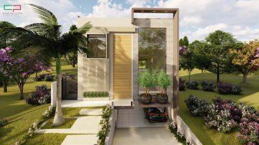 projeto sobrado 3 niveis aproveitamento terreno desnivel condominio porto