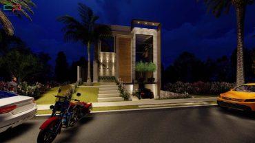 Frentes de Casas modernas com garagem no subsolo
