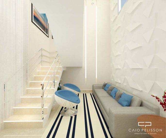 projeto decoracao design interiores casa terrea mezanino swiss park campinas moderno