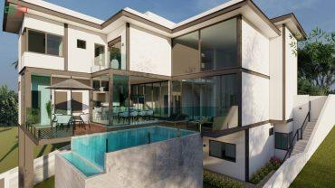 casas modernas de estrutura metalica com vidro estilo contemporaneo