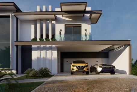 casa moderna estrutura metalica e vidro estilo contemporaneo condominio jundiai sp