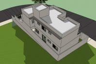 projeto arquitetura planta casa sobrado 03 andares garagem subsolo terreno aclive esquina 10×25 condomínio porto real