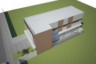 Projeto comercial oficina mecânica galpão loja sobrado arquitetura moderna limeira arquiteto caio fachada