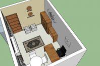 projeto design interiores escritório home office decoração estudo