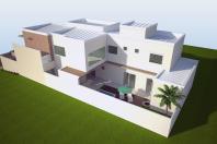 projeto 240m2 planta sobrado 04 suites home piscina terreno 10×25 condominio