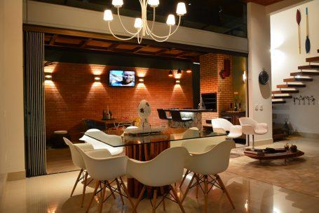 Projeto de Iluminação Residencial Sala Living Integrado com Lazer Arquiteto em Campinas