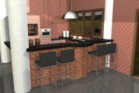área gourmet projeto arquitetura interiores rustica tijolinho