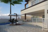casa moderna sobrado 240m2 terreno desnível aclive 10×25 condomínio alto padrão projeto esquina arquiteto limeira