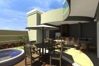 planta desenho casa 260 metros terreno condomínio 10×25 alto padrão sobrado arquiteto arquiteta piracicaba muro e portao