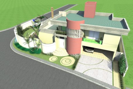 projeto casa esquina terreno 10×30 condomínio terras santa elisa limeira arquiteto arquiteta