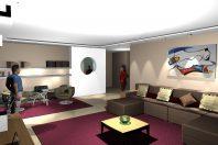 projeto design interiores decoração sala living home theater arquiteta rio de janeiro apartamento alto padrão barra arquiteto decorador