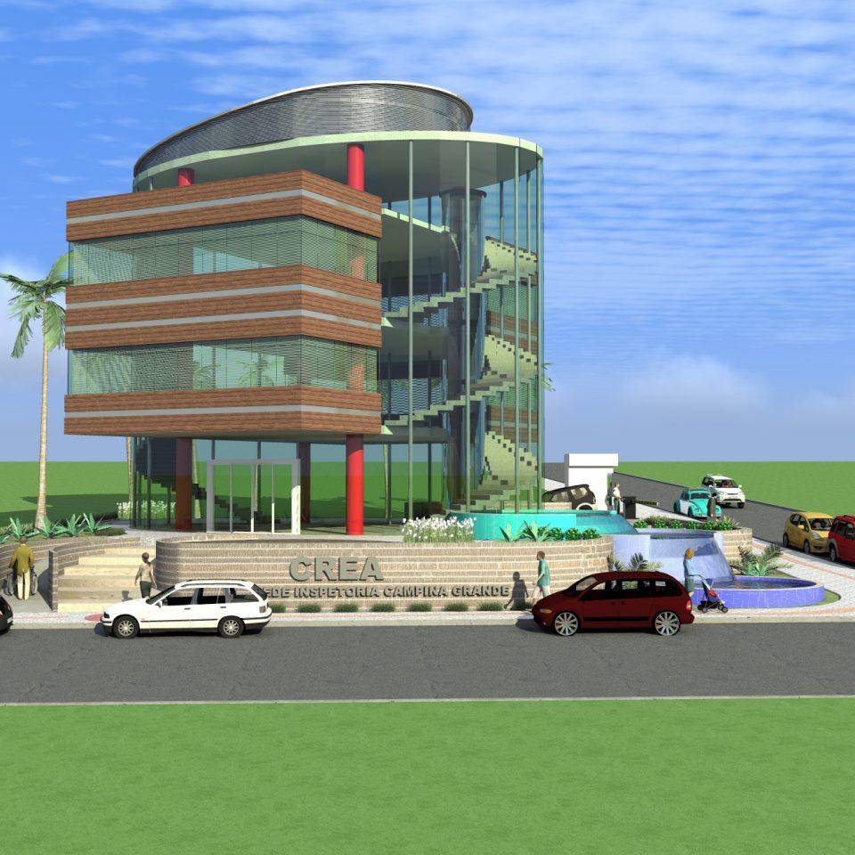 projeto institucional corporativo edificio de escritorios sede administrativa crea rio janeiro arquitetura contemporânea vidro curvas esquina arquiteto caio