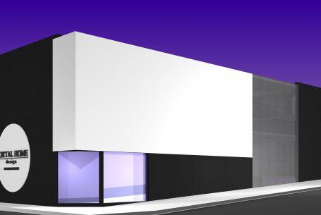projeto loja rua esquina casa carpete limeira arquitetura moderna corporativa