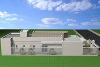 projeto planta casa térrea 150 metros terreno 8×20 telhado embutido muro moderno arquiteto limeira