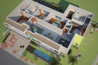 projetos casas alto padrão modernas arquitetura contemporânea terreno esquina 20×25 volumes coloridos condomínio casal buono