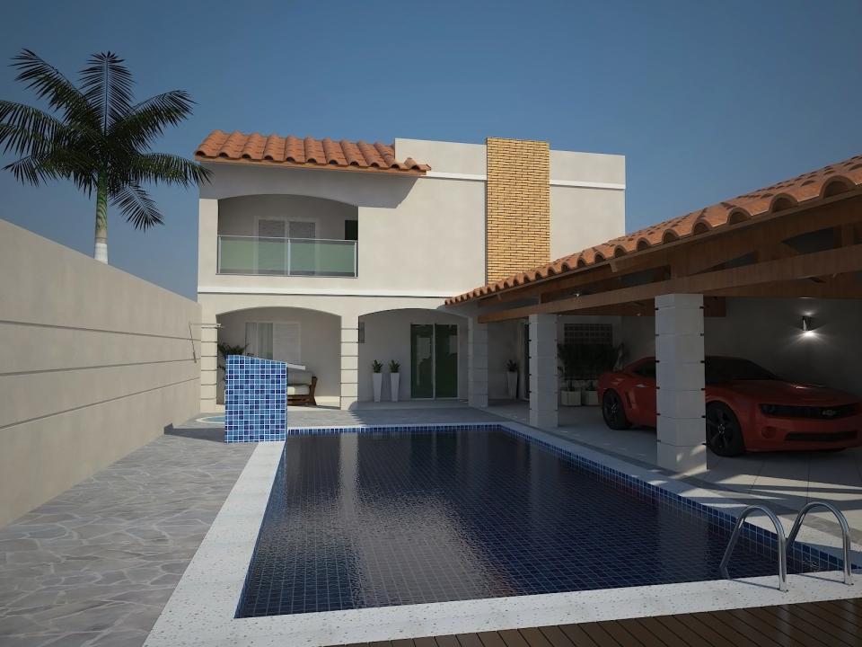 Reforma casa formato l edicula piscina terreno 10 frente for Casa moderna l