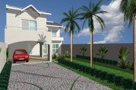 planta casa 03 quartos edicula sobrado fundo arquiteto limeira