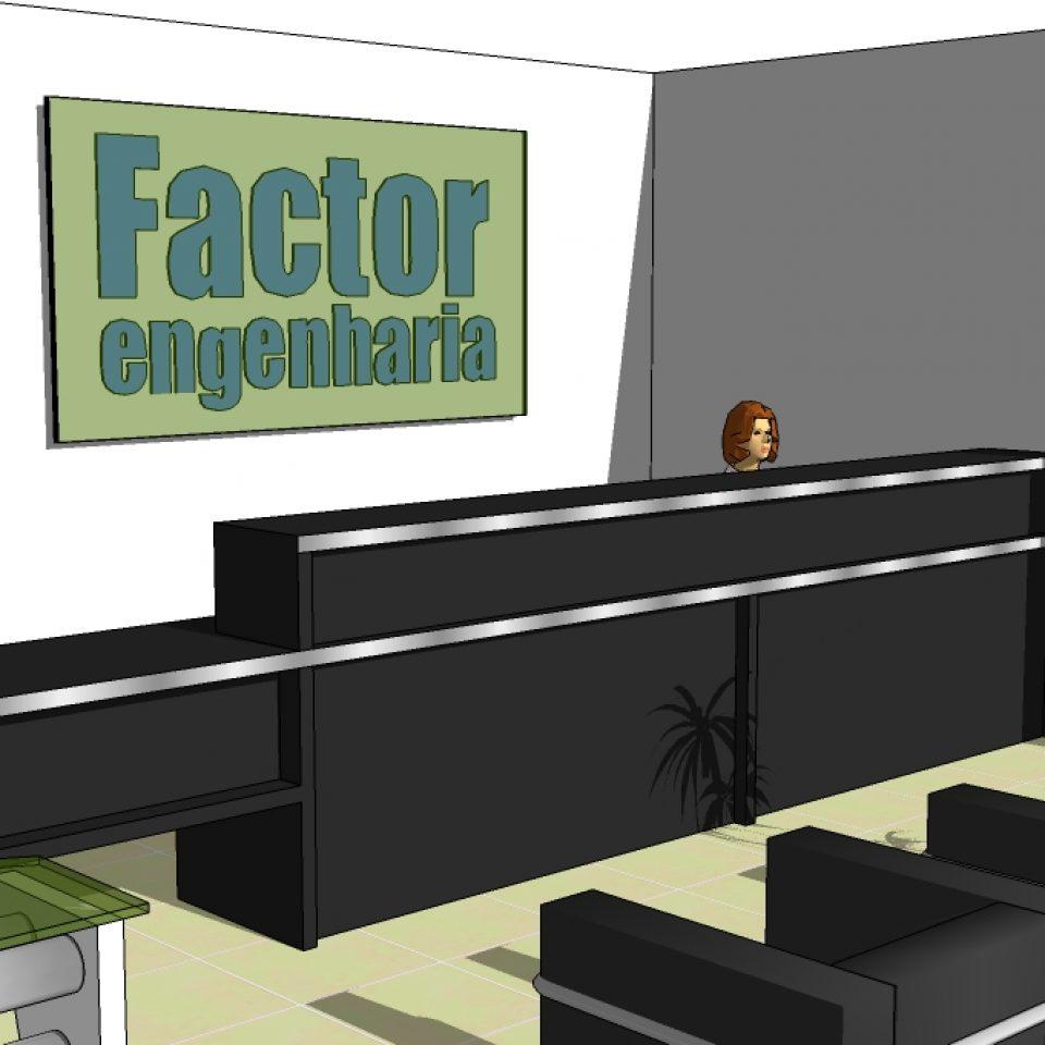 projeto arquitetura interiores corporativo loja impressoras hp factor limeira divisórias curvas