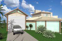 projeto casa rustica madeira eucalipto tijolinho garagem barco chácara represa tiete