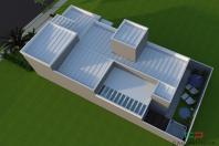 Projeto de Casa Térrea em Condomínio de Campinas com Fachada Reta Arquitetura Moderna