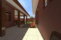 projeto reforma casa u telhado aparente telha cerâmica madeira