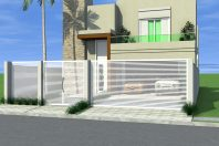 projeto sobrado casa condomínio portão terreno plano 12 por 25 fachada reta quadrada caixote 240 metros arquiteto limeira