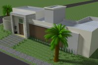projeto planta casa terrea esquina 03 suites arquitetura moderna condominio terras sao bento limeira arquiteto arquiteta telhado embutido