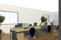 projeto ambientes corporativos com divisórias curvas redondas empresa arquiteto
