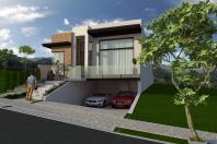 projeto casa térrea alto padrão planta fachada moderna terreno 10×30 garagem subterrânea