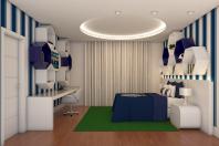 projeto decoração design interior casa sobrado alto padrão mezanino copa noturna hall dos quartos leitura