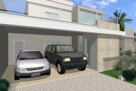 projeto planta casa esquina 3 suítes lazer piscina arquitetura moderna