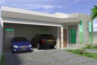 projeto planta construir casa térrea 3 suítes terreno 12×30 arquitetura moderna caixote arquiteto limeira