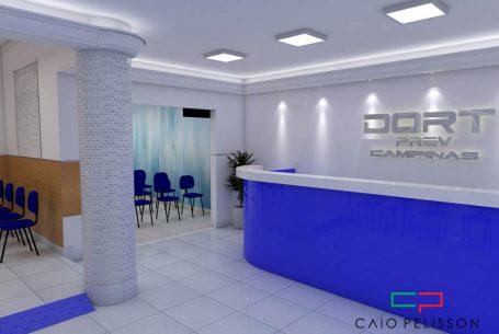 projeto design interiores clinica medica campinas medicina ocupacional dort prev arquiteto