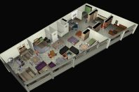 projeto loja de móveis fachada moderna madeira