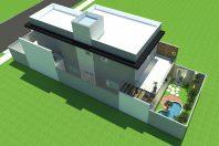 projeto planta casa sobrado moderno 8×25 3 suites 140 metros lazer piscina campinas citta salerno
