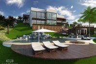 projeto casa sobrado moderno arquitetura contemporânea terreno declive condomínio luxo jundiaí