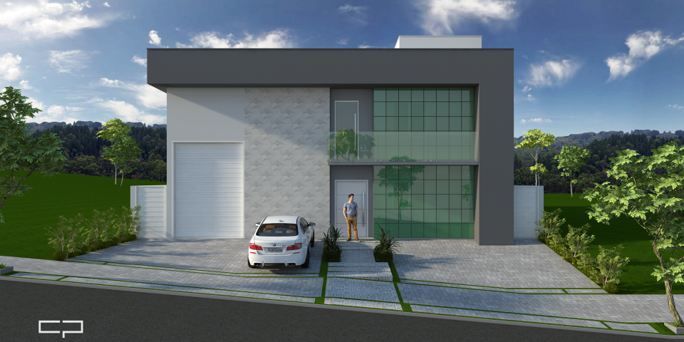projeto galpão industrial comercial arquitetura moderna fachada limeira