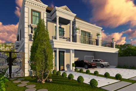 projeto sobrado clássico arquitetura francesa estilo europeu alto padrão luxo 17×37 campinas pedra alta