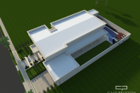 fachada neoclassica casa terrea terreno 500-metros condominio arquitetura classica