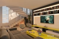 projeto decoração design interiores ambiente campinas swiss park home theater
