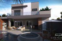 projeto sobrado moderno condomínio swiss park campinas terreno 12×30 3 suítes