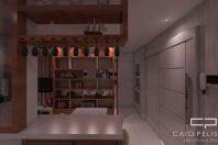 projeto decoracao design interiores apartamento compacto praia grande onix residence