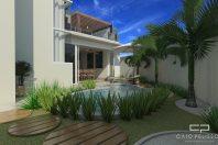projeto arquitetura design interiores reforma area lazer gourmet piscina terreno esquina 45 metros pergolado cobogó