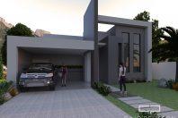 projeto casa térrea com terreno desnivel declive 15×30 itatiba campinas arquitetura moderna reta